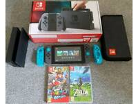 Nintendo Switch + Games (Perfect Condition)