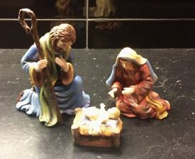 Porcelain figurines - Joseph, Mary and Jesus