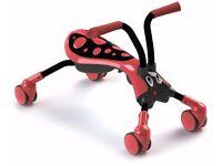 Scramblebug Beetle Red Black Ride On Bike Trike Post Wheels Outdoor Toys