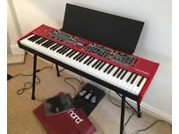 Nord Stage 2 EX 76 keyboard includes Nord cover, music desk, pedals stand and gig bag