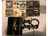 PlayStation 3 + 10 games + 2 controllers