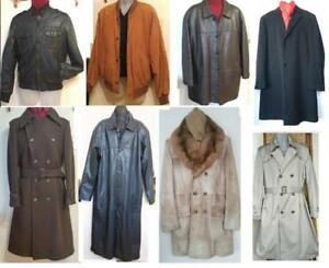 Oakville MENS COATS & JACKETS Leather, Wool, Fur ALL Great Quality and Condition; New, Vintage and Gently Used