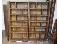 Bookcase pigeon holes x2 ZIG ZAG shelves FREE DELIVERY Brighton industrial wood Brighton UK gplanera