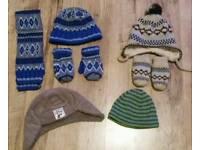Boys hats, scarfs & gloves 3-6 & 6-12 mths