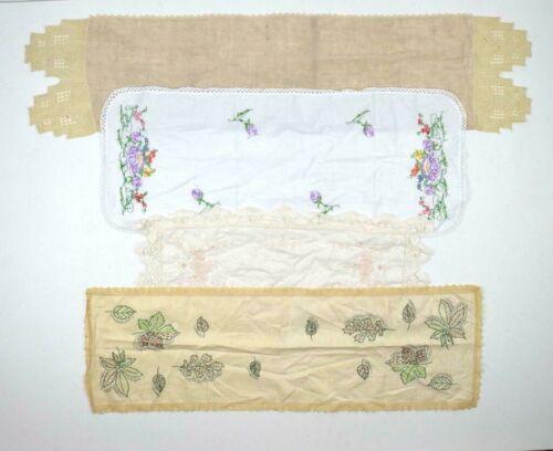 Antique Vtg Lot of 22 Table Cloth Runner Doilies Placemats Crochet Lace Linens