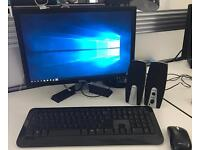"""Dell Windows 10 PC with Wifi, 20"""" Monitor, Wireless Keyboard, Mouse, Speakers and Webcam"""