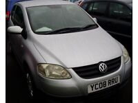 Cheap First Car, VW Fox 1.2 Low Mileage New MOT Economical, Insurable, Very Good Condition