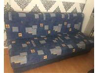 Large sofa turns into sofa bed with storage! Small double