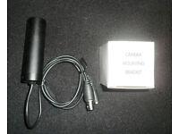 Black and white bullet cam CCTV.