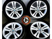"""17"""" Genuine BMW alloys, excellent cond, 4 matching Goodyear Eagle tyres."""