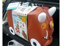 New & Unused Kids Childs Brown Gruffalo Trunki Ride-on Pull Along Suitcase Case