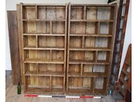 Bookcase pigeon holes x2 ZIG ZAG shelves storage industrial Brighton London gplanera
