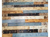 Pallet reclaimed wood wall style rustic timber
