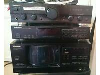Pioneer amp, radio and 101 cd changer player