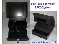 Bar & Pub compact epos system & cash drawer w/ full software easy stock control & indv' staff sales