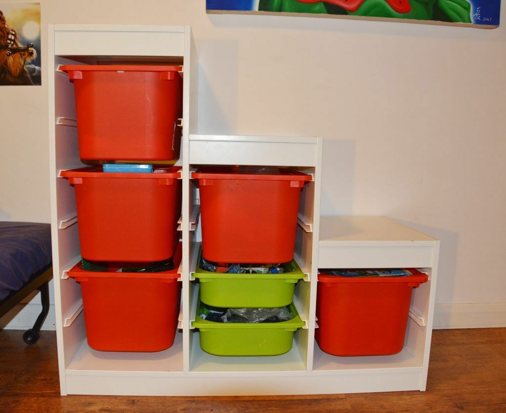 Ikea trofast childrens white toy storage 7 boxes e2 for Furniture xpress bethnal green