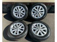 "16"" GENUINE VW TRANSPORTER T6 T5 CLAYTON ALLOY WHEELS TYRES ALLOYS 5x120"
