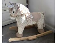 Wooden Toy Rocking Horse with Sounds