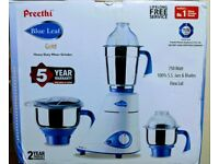Preethi Blue Leaf (GOLD) Mixer Grinder / Indian Food mixer 750Watts