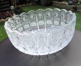 Vintage cut glass crystal bowl