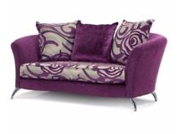 DFS Nikita 4 seater sofa, 2 seater cuddler chair & foot stool + matching rug - Suite