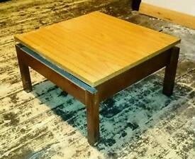 Low square coffee table.