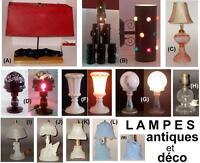 LAMPES - antiques et déco