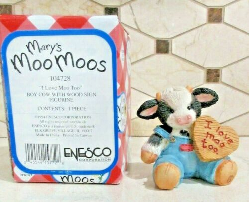 """Mary Moo Moos Enesco """"I Love Moo Too """" #104728 1994  Free Shipping"""