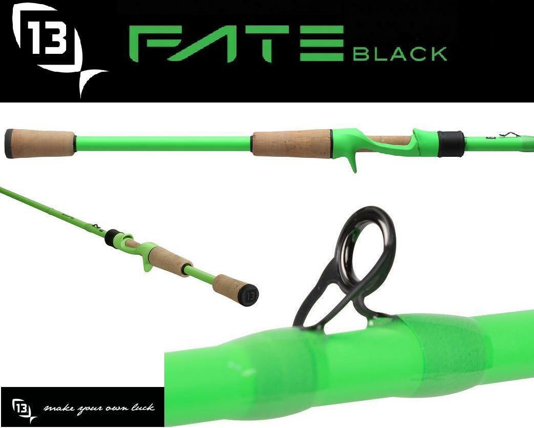 """Bundle - 13 Fishing Fate Black FTB2C71MH 7'1"""" Med-Hvy Castin"""