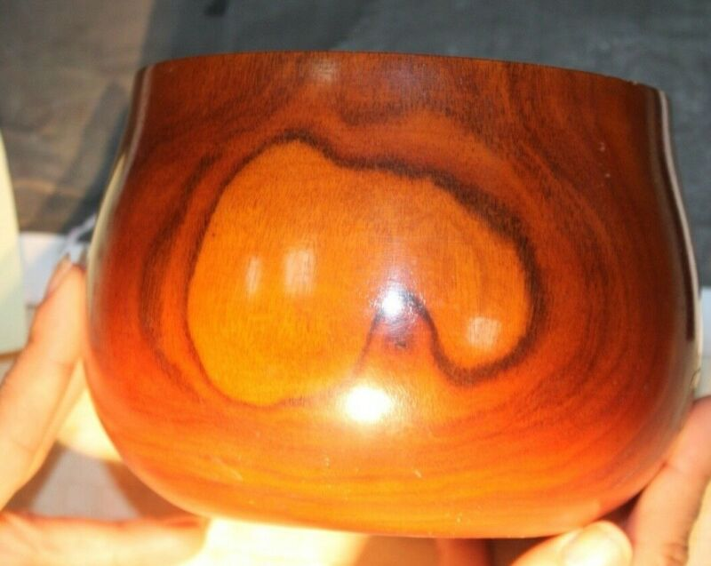 Hawaiian Koa Calabash Bowl circa 1890 or earlier 13a