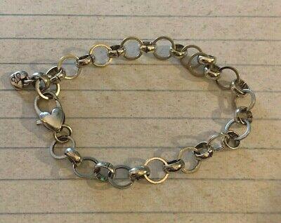 BRIGHTON Large OVAL & Circle Rolo/Link Chain Bracelet Adjustable