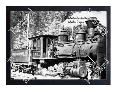Historic Wheeler Lumber Co. - Wheeler, Oregon Train Postcard
