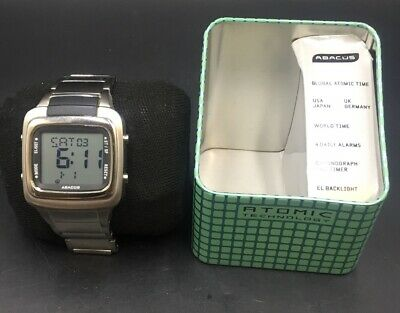 AUTHENTIC ABACUS WATCH By FOSSIL AG 4008 COLLECTIBLE WATCH ATOMIC TECHNOLOGY.