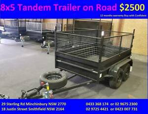Special double axles 8x5 hi side 600mm cage 1y priv rego $2500 Smithfield Parramatta Area Preview