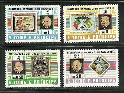 ST THOMAS AND PRINCE 573-76 MNH SIR ROWLAND HILL SCV 8.80