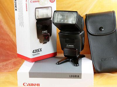Canon Speedlite 420 EX für digitale Kameras zB Canon EOS-Serie klein u. schnell  (Kleine Canon Digital Kamera)