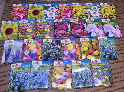 Lot of 25 Mixed flower seed packets burpee packed for 2020.#1114