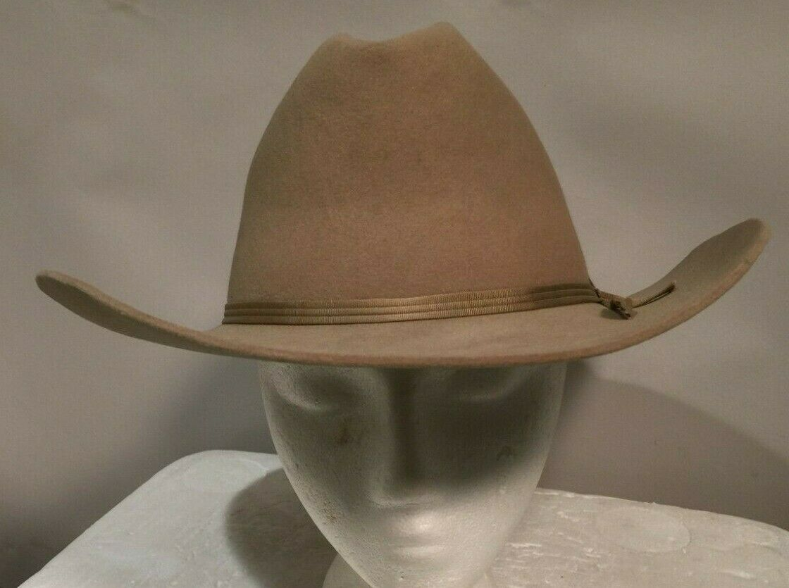 Nice Vintage John B. Stetson 3X Beaver Hat 7 1/8 Light Brown, JBS Brand Iron - $61.00