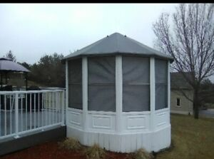 12 x12 gazebo fully enclosed can assemble and deliver