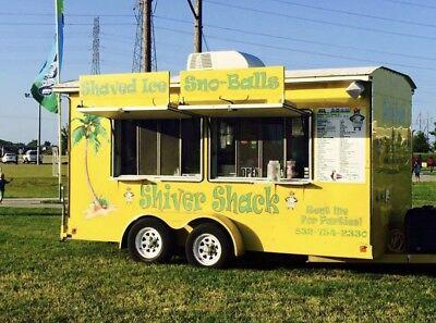 2015 Custom Concession Trailer Food Truck 8 X 12 W Equipment