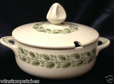 "RORSTRAND SWEDEN ROR56 ROUND COVERED VEGETABLE BOWL 9 1/2"" GREEN LEAVES ON VINE"