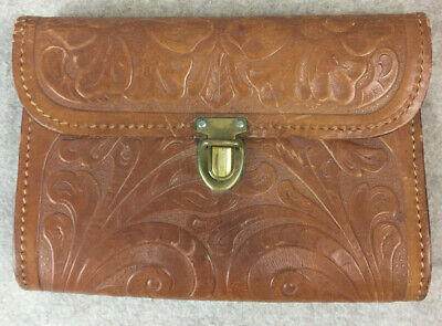Small Tooled Leather Pouch Purse Fantasy Cosplay Costume Western Steampunk