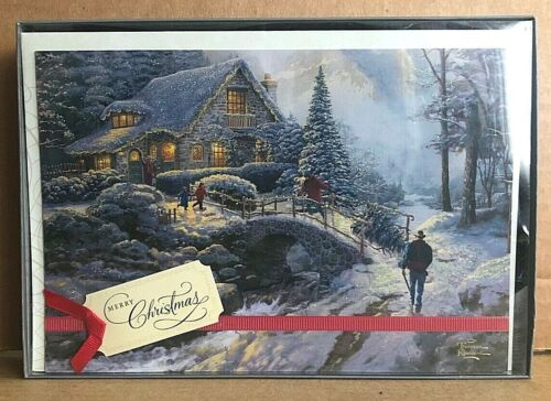 Hallmark Thomas Kinkade Boxed Christmas Cards Merry Christmas 12 cards
