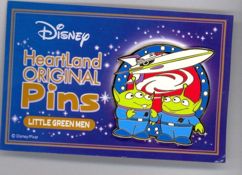 Disney Japan Toy Story Little Green Men Rocket Tomy Heartland Promo Pin RARE