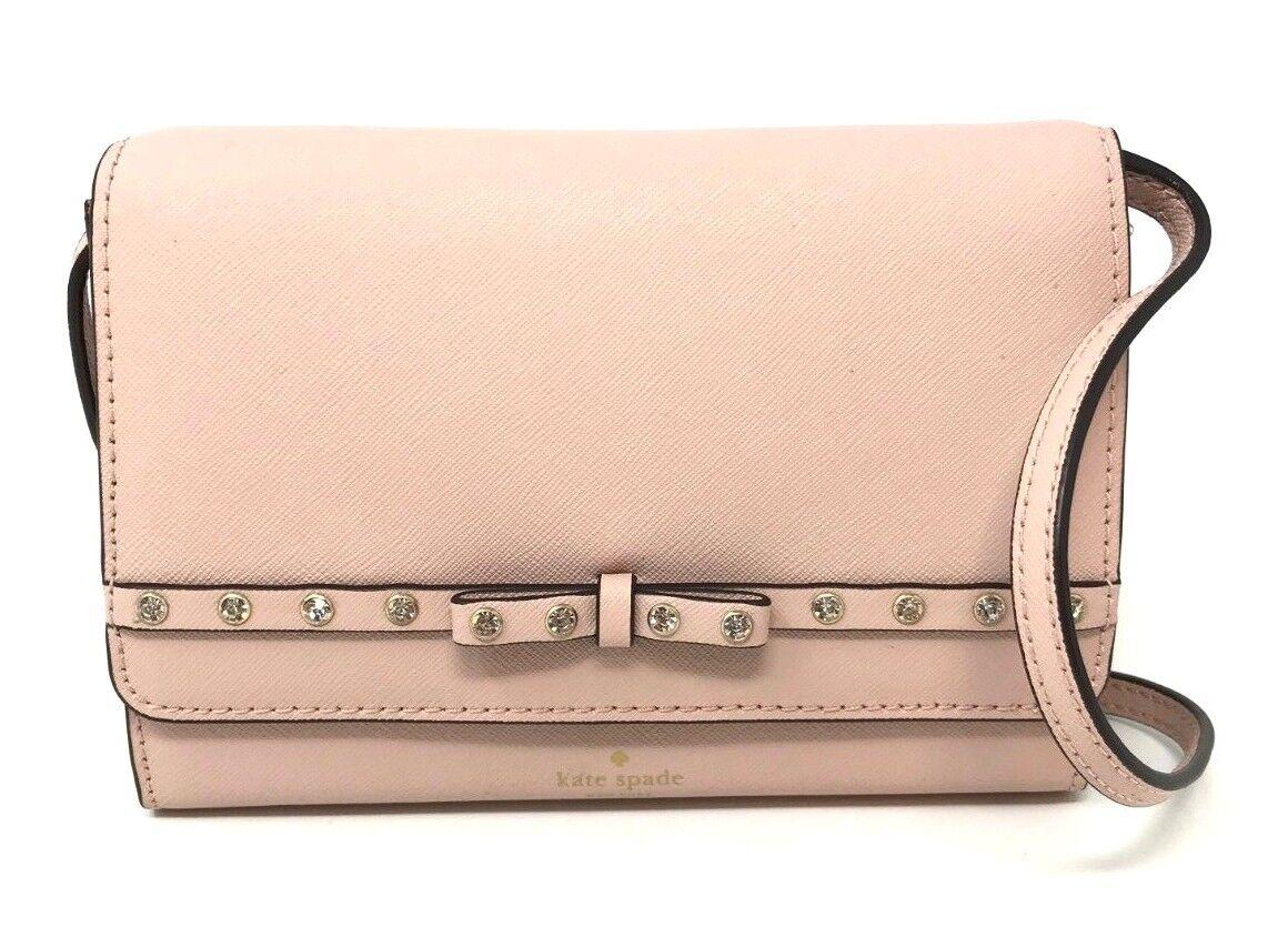 Kate Spade Laurel Way Jeweled Summer Clutch Warm Vellum Crossbody Bag