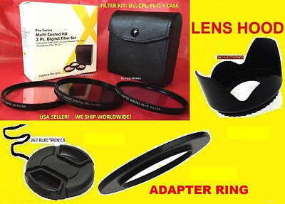 Ring Adapter S1+filter Kit+hood+lens Cap 67mm To Camera F...