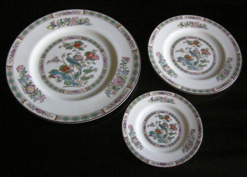 3 Pc Wedgwood Kutani Crane R4464 ~ Dinner, Salad, Bread Plates ~ Mint!