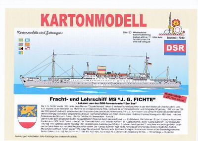MDK-Verlag 7040 - Kartonmodell - Fracht-und Lehrschiff J. G. Fichte - 1:250