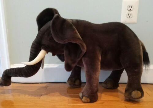 Hansa Elephant 18 inch Jumob Plush 2004 Stuffed Animal Realistic Gift Toy