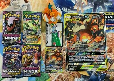 Pokemon RESHIRAM & CHARIZARD GX Figure Collection Sealed Packs No Box